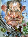 Cartoon: Tommy Lee Jones (small) by RoyCaricaturas tagged tommy,lee,jones,famous,actors,hollywood