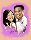 Cartoon: couple rush (small) by juwecurfew tagged couple,caricature