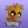 Cartoon: Groot Chibi (small) by juwecurfew tagged babygroot,groot,guardiansofthe,galaxy