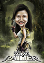 Cartoon: tomb raider caricature (small) by juwecurfew tagged tomb,raider,caricature