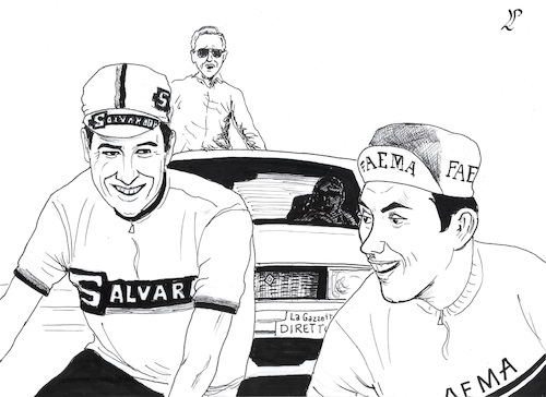 Cartoon: In memory to Felice Gimondi (medium) by paolo lombardi tagged sport,bicycling