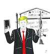 Cartoon: Book and rifle perfect fascist (small) by paolo lombardi tagged usa,trump