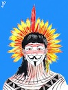 Cartoon: Indios rebellion in Brazil (small) by paolo lombardi tagged brazil