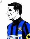 Cartoon: Javier Zanetti (small) by paolo lombardi tagged inter,zanetti