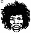 Cartoon: Jimi Hendrix (small) by paolo lombardi tagged rock music hendrix