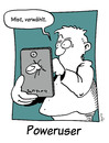 Cartoon: poweruser (small) by Mergel tagged handy,multimedia,telefon,touchscreen,verwählt,smartphone