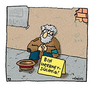 Cartoon: Bin internetsüchtig (medium) by fussel tagged internet,süchtig,net,addict