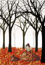 Cartoon: Achtung (small) by fussel tagged herbsteinbruch,herbst,autumn,fall,blätter,wald,laub,hund,gassi