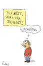 Cartoon: Negative Auswirkungen (small) by fussel tagged denken,positiv,negativ,sein,gedanken,macht,suggestion,autosugesstion