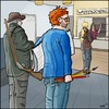Cartoon: Die Waffen der Cartoonisten (small) by Fenya tagged jesuischarlie,cartoonist,karikaturist,waffenschein