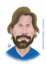 Cartoon: andrea pirlo (small) by abdullah tagged pirlo italy juve juventus milan inter serie