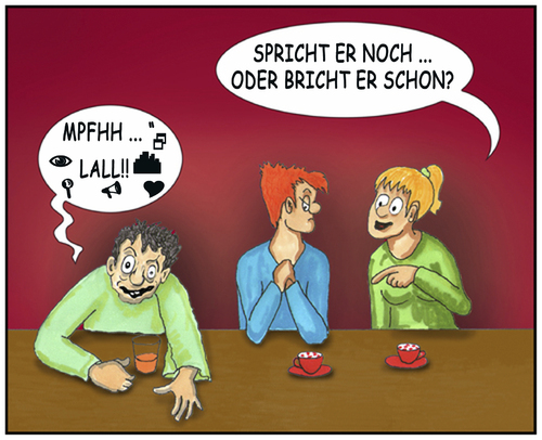 Cartoon: Alkohol (medium) by SoRei tagged alkohol,kneipe,rausch,betrunken,lallen