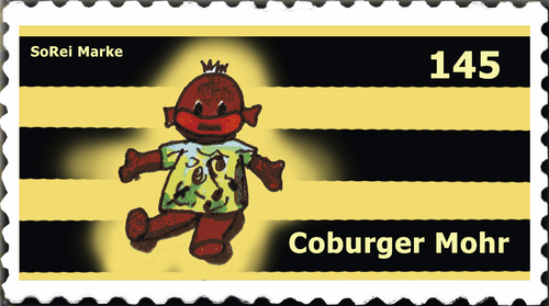 Cartoon: Briefmarke Coburg 9 (medium) by SoRei tagged regional,insider,briefmarke,coburg
