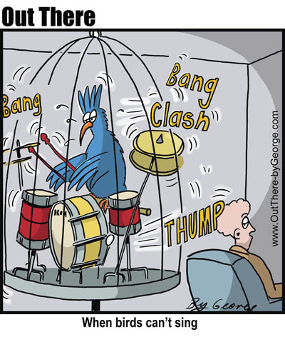 Cartoon: drums (medium) by George tagged drums