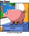 Cartoon: modern piggy bank (small) by George tagged modern,piggy,bank