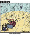 Cartoon: traveller (small) by George tagged traveller spider motel holiday
