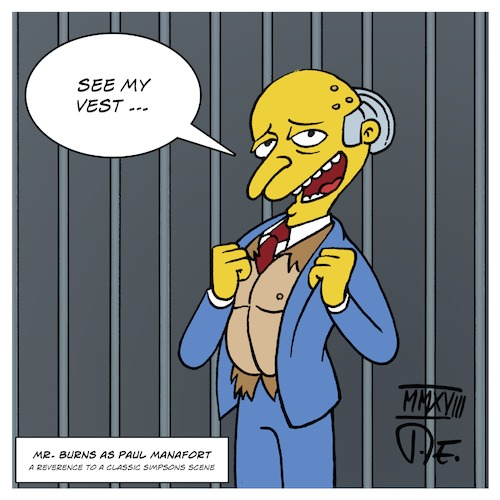 Cartoon: Mr. Burns as Paul Manafort (medium) by Timo Essner tagged paul,manafort,montgomery,burns,simpsons,ostrich,see,my,vest,hommage,homage,reverenz,reverence,cartoon,timo,essner,paul,manafort,montgomery,burns,simpsons,ostrich,see,my,vest,hommage,homage,reverenz,reverence,cartoon,timo,essner