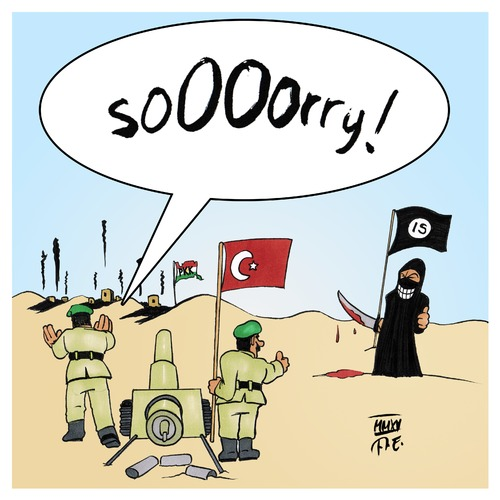 Cartoon: Sorry! (medium) by Timo Essner tagged türkei,erdogan,kurden,pkk,syrien,is,nato,bombing,isil,terrorist,terrorism,islamic,state,kurds,enemies,wrong,friends,cavusoglu,türkei,erdogan,kurden,pkk,syrien,is,nato,bombing,isil,terrorist,terrorism,islamic,state,kurds,enemies,wrong,friends,cavusoglu
