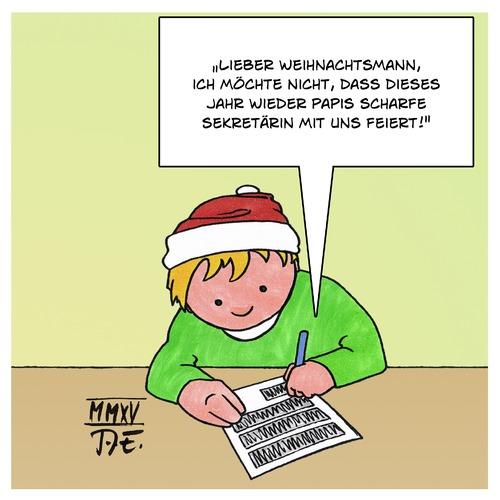 Weihnachtswunsch von Timo Essner | Liebe Cartoon | TOONPOOL