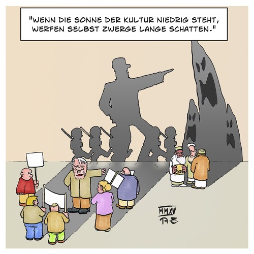 Cartoon: Karl Kraus (medium) by Timo Essner tagged einwanderung,pegida