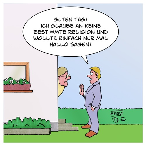 Cartoon: Zeuge (medium) by Timo Essner tagged zeugen,jehovas,atheist,klingeln,klinkenputzen,klingel,tür,cartoon,timo,essner,zeugen,jehovas,atheist,klingeln,klinkenputzen,klingel,tür,cartoon,timo,essner