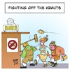 Cartoon: Fighting off the Krauts (small) by Timo Essner tagged krauts,german,lederhosen,beer,fighting,off,the,play,on,words,cartoon,caricature,germans