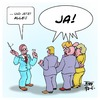 Cartoon: Generalprobe Wahl (small) by Timo Essner tagged cdu,spd,abstimmung,wahl,abweichler