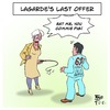Cartoon: Lagardes Last Offer (small) by Timo Essner tagged imf christine lagarde alexis tsipras democracy greece grexit oxi austerity debt economics finances taxes welfare state bankruptcy rebuilding nation