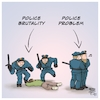 Cartoon: Police Brutality - Police Proble (small) by Timo Essner tagged police brutality violence icantbreathe blacklivesmatter defund the problem racism racial profiling sexism minorities cartoon timo essner