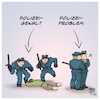 Cartoon: Polizeigewalt - Polizeiproblem (small) by Timo Essner tagged polizei polizeigewalt polizeiproblem racial profiling rechte netzwerke gewaltmonopol demokratie rechtsstaat ermittlungen strafverfahren deutschland cartoon timo essner