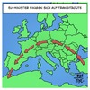 Cartoon: Transitroute (small) by Timo Essner tagged transitroute,einwanderung,asyl,eu,deutschland,flüchtlinge