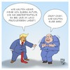 Cartoon: Trump vs. Altmaier (small) by Timo Essner tagged donald trump peter altmaier autoindustrie deutschland strafzölle usa gas natural lng wirtschaftskrieg mauer maga cartoon timo essner