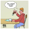 Cartoon: Wasser auf dem Mars (small) by Timo Essner tagged mars,wasser,wortspiel,cartoon,timo,essner