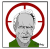Cartoon: Clint Eastwood (small) by Carma tagged clint,eastwood,american,sniper,movies,celebrities,usa,culture
