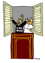 Cartoon: coming out (small) by Carma tagged pope,vatican,gay,coming,out
