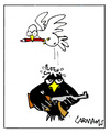 Cartoon: Crows and Doves (small) by Carma tagged animals,politics,peace,terrorism,war,conflicts,crows,doves,black,cherlie,hebdo,fredom,freedom,of,expression