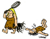 Cartoon: Hairy Affair (small) by Carma tagged women,men,relationships,woman,man,caveman,prehistorical