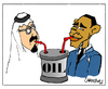 Cartoon: Obama in Arabia (small) by Carma tagged cartoons,politics,international,barack,obama,usa,saudi,arabia,islam,oil,king,economy,enviroment