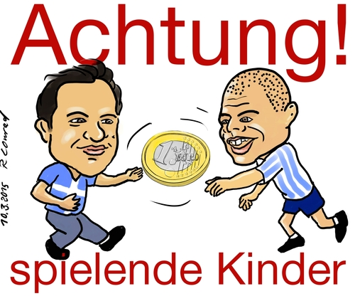 Cartoon: Spielende Kinder (medium) by Ralf Conrad tagged politik,tsirpas,faroukis,griechenland,europa