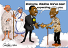 Cartoon: Welcome Madiba! (small) by carloseco tagged nelson,mandela,martin,luther,king,gandhi