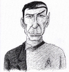 Cartoon: Leonard Nimoy (small) by Uliwood tagged mr,spock,enterprise,star,trek,actor,schauspieler,portrait,karikatur,hommage