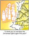 Cartoon: TP0205christmastreelightsdecorat (small) by comicexpress tagged christmas,xmas,shopping,presents,gifts,tree,lights,decorations