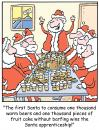Cartoon: TP0206christmassantaworkshop (small) by comicexpress tagged santa,claus,north,pole,toys,sleigh,reindeer,elves,elf,helpers,presents,gifts,chimney,warm,beer,fruitcake,job,application,interviews,apprenticesbarfing,barf,vomit,vomiting