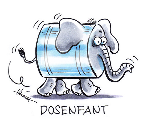 Cartoon: Dosenfant (medium) by Hoevelercomics tagged dosenpfand