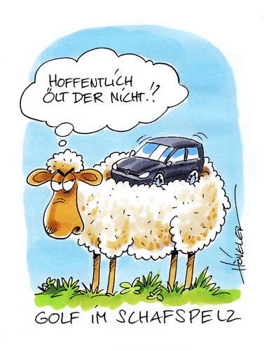 Cartoon: Golf im Schafspelz (medium) by Hoevelercomics tagged schaf,sheep,natur,animals,tiere,kalauer