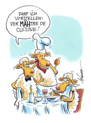 Französische küche comic  Maitre de Cuisine von Hoevelercomics | Medien & Kultur Cartoon ...