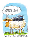 Cartoon: Golf im Schafspelz (small) by Hoevelercomics tagged schaf,sheep,natur,animals,tiere,kalauer