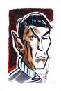 Cartoon: Leonard Nimoy (small) by Hoevelercomics tagged star,trek,space,leonard,nimoy,spock