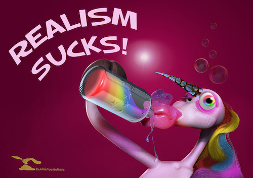 Cartoon: High Unicorn (medium) by Rüsselhase tagged unicorn,einhorn,flasche,betrunken
