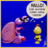 Cartoon: Augen nach oben (small) by Rüsselhase tagged biene,maja,wille,schnecke